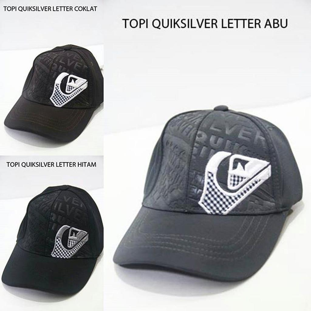 Topi Quiksilver Letter surf unisex import  aa9a1eab93