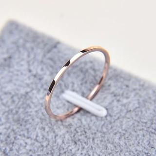 Cincin halus sederhana polos cincin baja sangat cincin Rose Gold Pecinta Lady