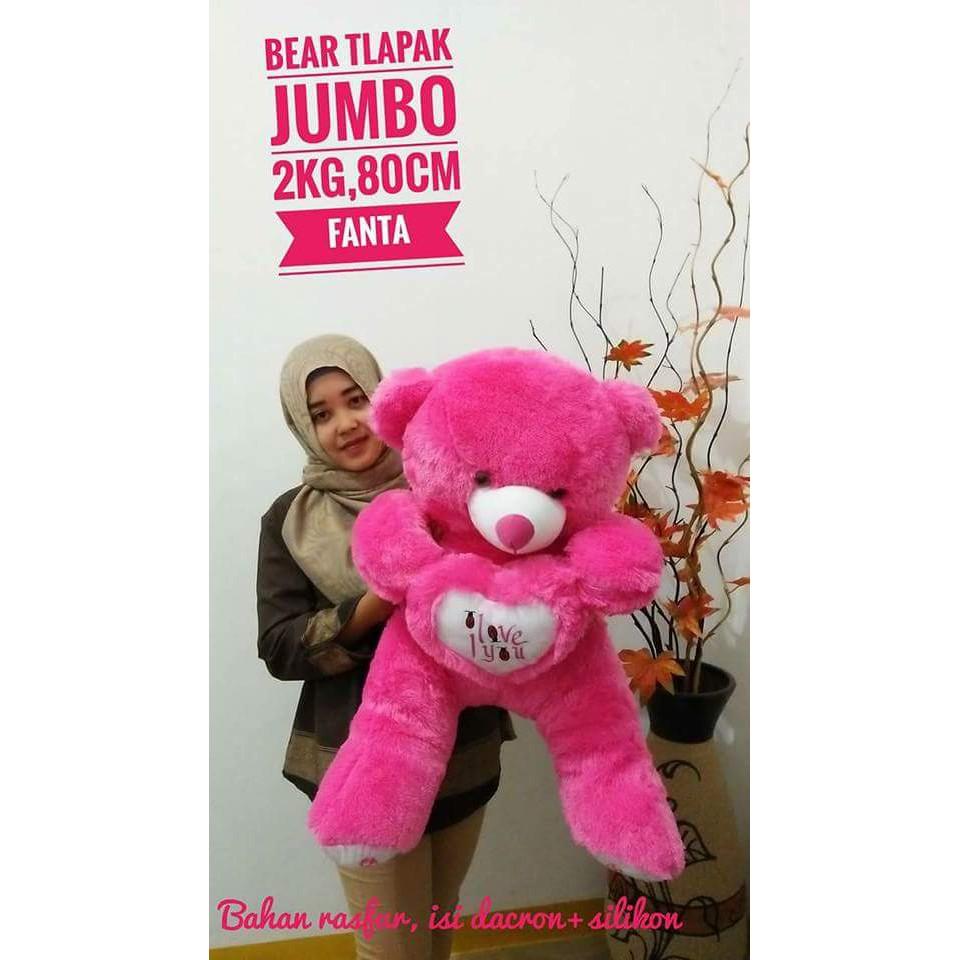 BONEKA BERUANG TEDDYBEAR JOJON JUMBO PINK DOGER FANTA CREAM COKLAT KOPI KUNING BIRU UNGU MERAH HIJAU | Shopee Indonesia