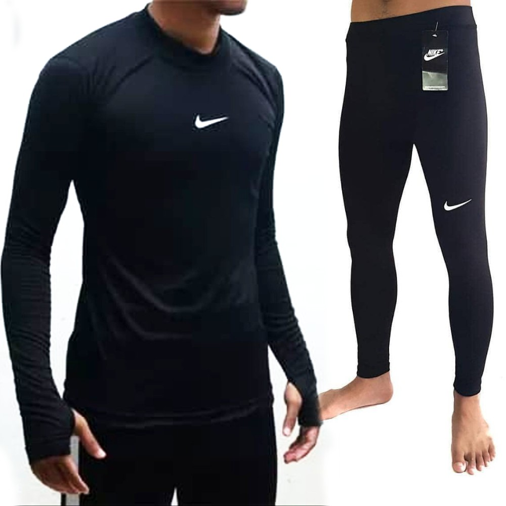 3 3 Paket Futsal Hemat Baselayer Kaos Thumbhole Celana Legging Panjang Shopee Indonesia