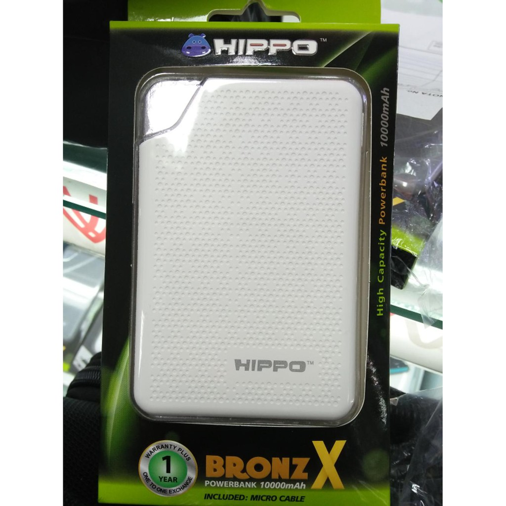 Hippo Powerbank Bronz X 7500 Mah Garansi 1 Tahun Power Bank 15000 Resmi Grey Shopee Indonesia