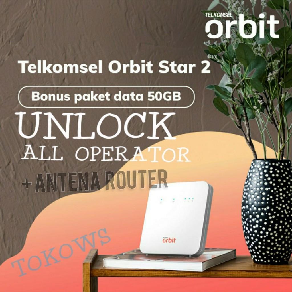 Modem Wifi Router 4G Telkomsel Orbit Star 2 Huawei B312 plus Antena