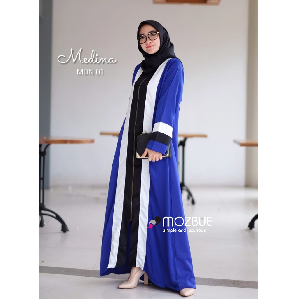 Baju Muslim Wanita Madina Model Baju Gamis Abaya Terbaru Baju Muslimah Gamis Syari Ori Mozbue Shopee Indonesia