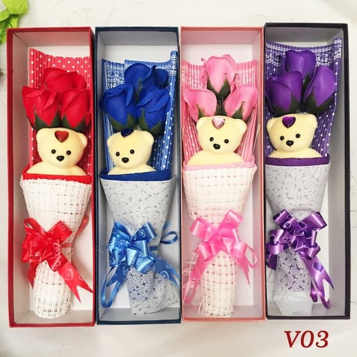 Bunga Kotak Valentine Kado Anniversary Kado Hari Ibu V03 Shopee Indonesia