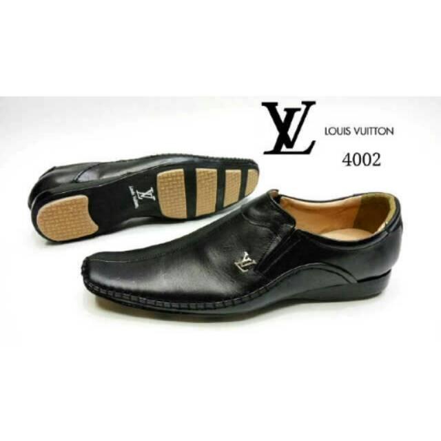 LV Sepatu Kerja Formal Pantofel pria Kulit  8996acd2fd