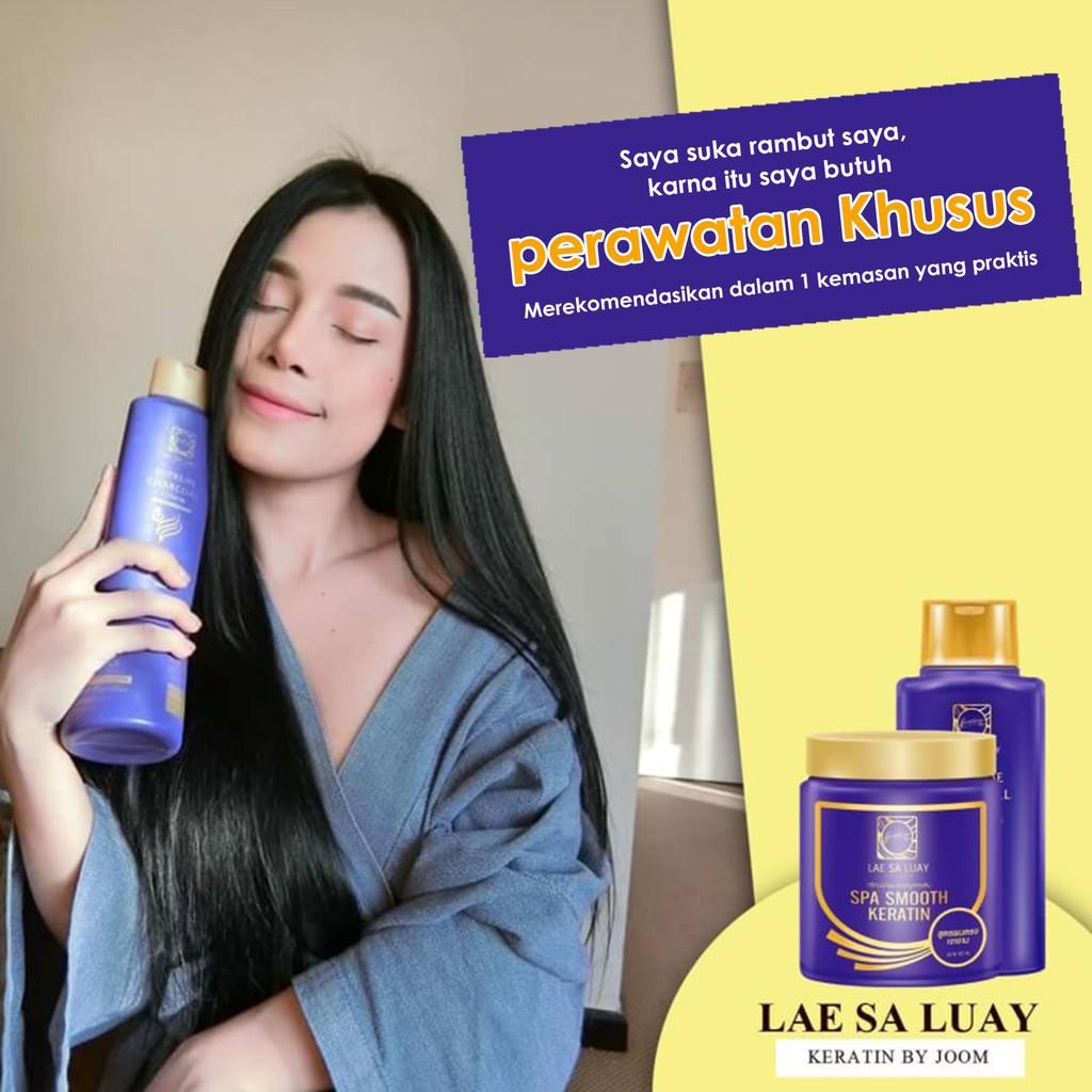 BPOM Lae Sa Luay Supreme Charcoal Smooth Shampoo / Shampo Kondisioner 200ml-2