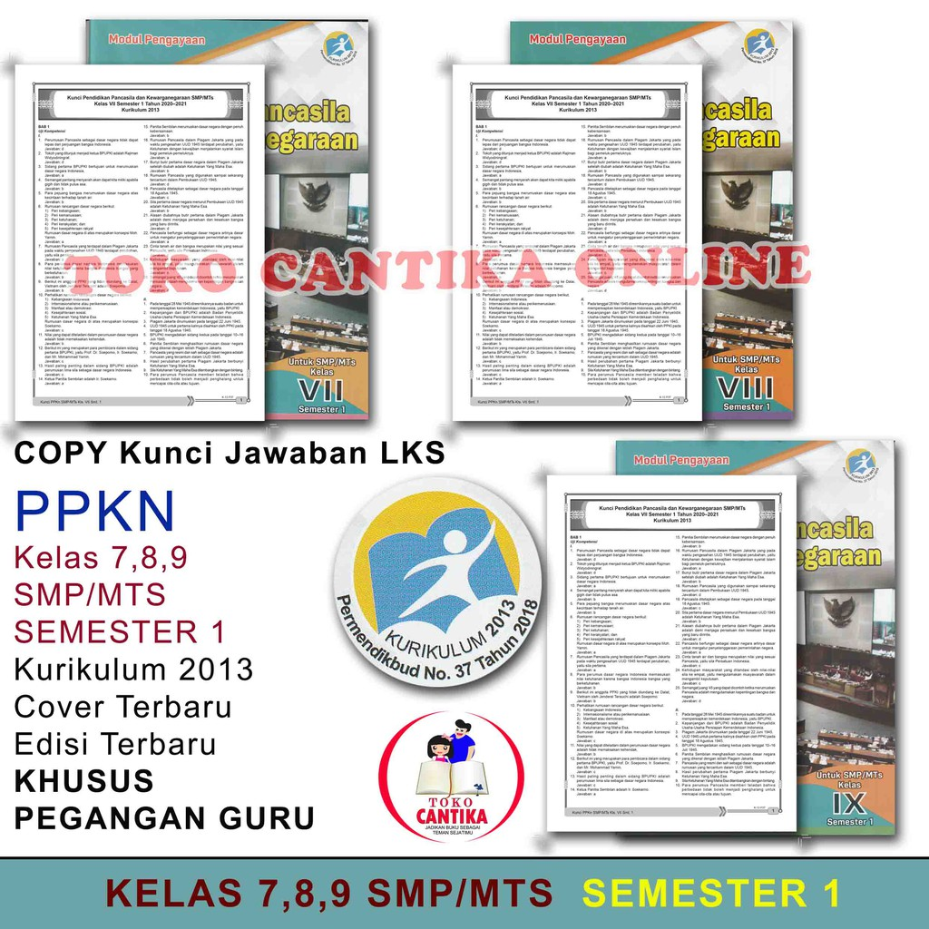 Copy Kunci Jawaban Lks Ppkn Kelas 789 Smp Semester 1 Khusus Pegangan Guru Kurikulum 2013 Shopee Indonesia