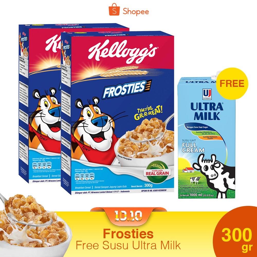 Buy 2 Frosties 300g Free Susu Ultra Milk Shopee Indonesia Energen Oatmilk Mixbry10scx24g