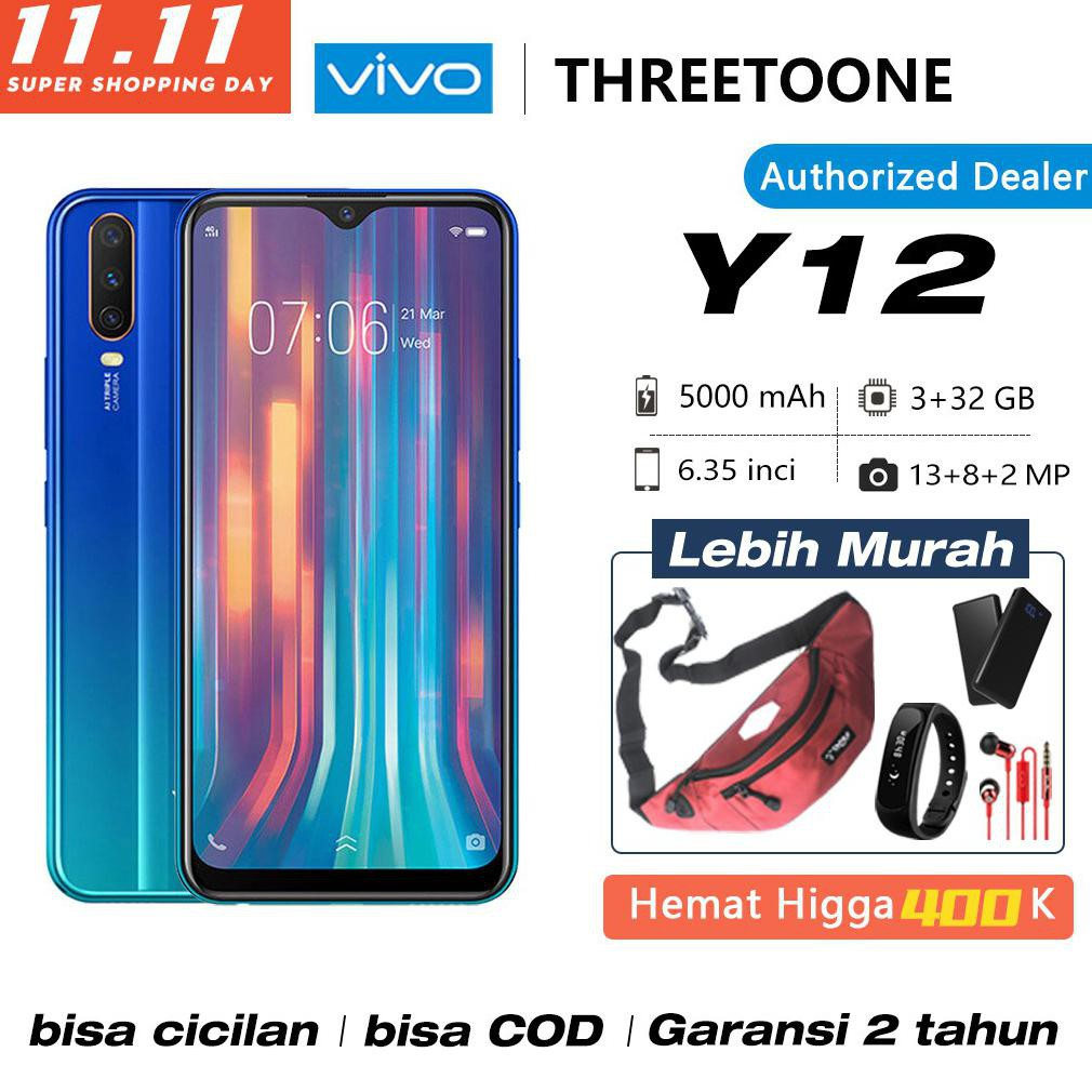 BAYAR DITEMPAT]] Vivo Y12 y12i RAM 3GB ROM 32GB/64GB Garansi Resmi 1 Tahun 2020 handphone murah