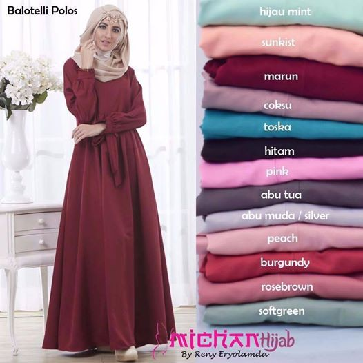 Belanja Online Dress Muslim - Fashion Muslim  6ee6cb0a20