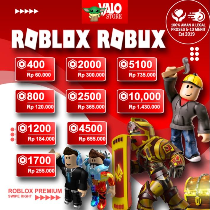 Roblox Robux Premium Bulanan Termurah, 100% Legal dan Aman