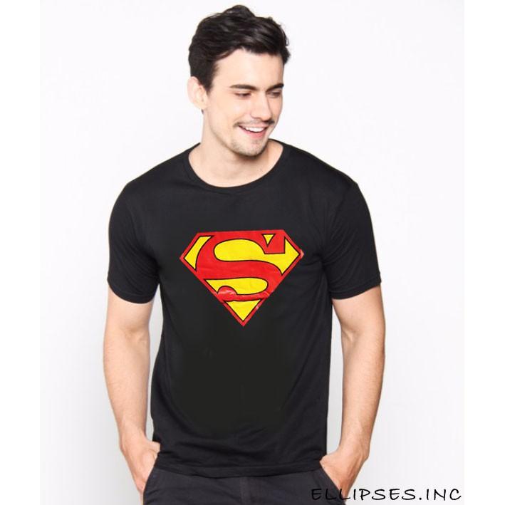 Kaos Pria / Distro Premium / T-shirt Cowok Superhero Superman Flag - Hitam - Vanwin | Shopee Indonesia