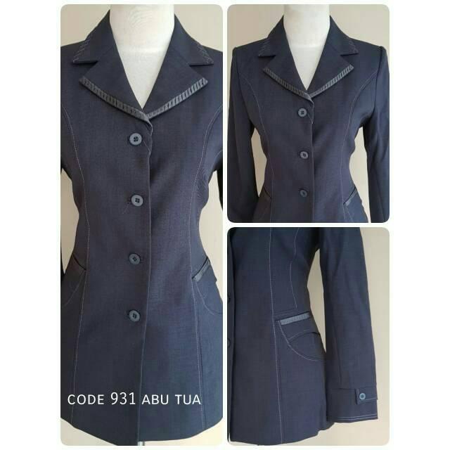 Baju blazer kerja hitam stelan celana rok bagus murah adem cantik formal  guru kantor keren nyaman  03c98f5b3a