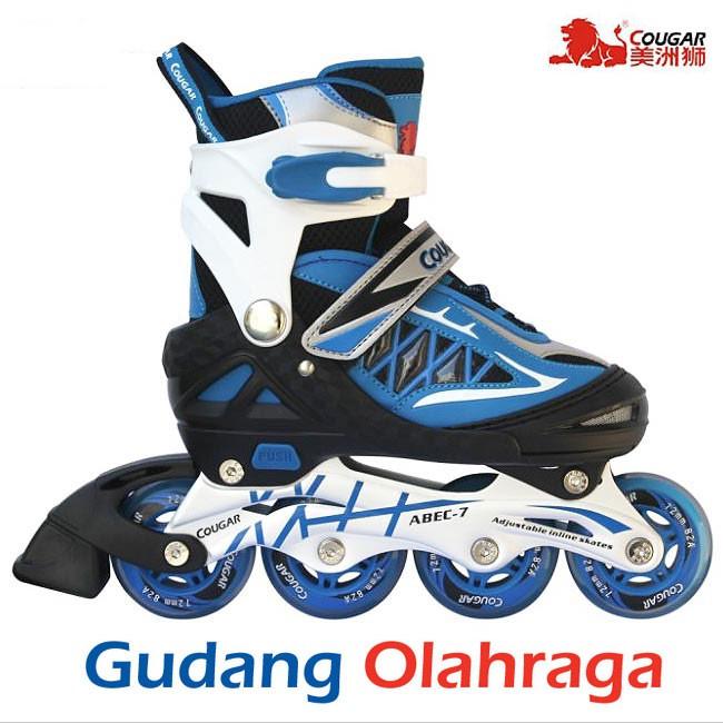 Sepatu Roda COUGAR Inline Skate MZS835L Balck White  e092df74bc
