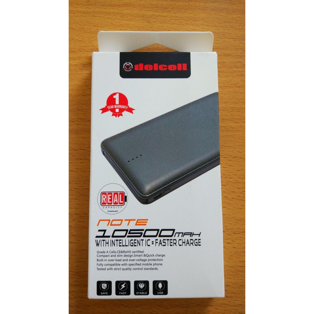 ORIGINAL Powerbank DELCELL eco power bank slim 10000 mah Orange real capacity SENTER GARANSI RESMI |