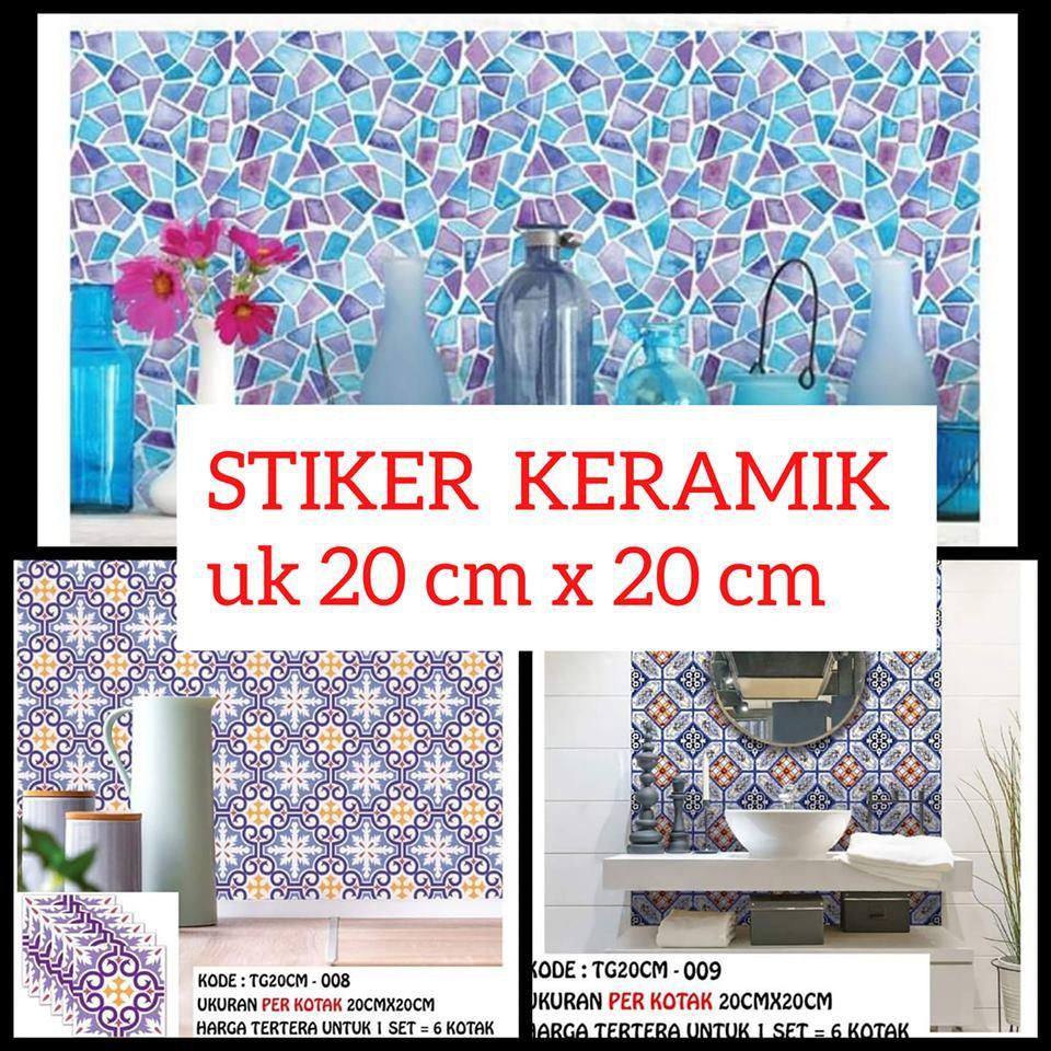 010 Sticker Keramik Dapur Motif Tegel