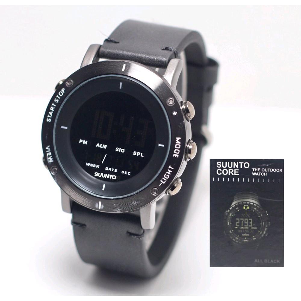 Jam Tangan Sport Suunto Core Outdoor Watch Digital Full Black Lagi Exstra Promo Premium