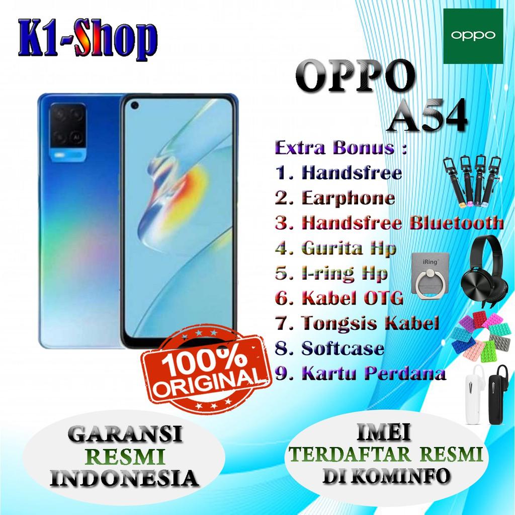 HP BARU OPPO A54 A 54 RAM 4/64GB , 4/128GB , & 6/128GB GARANSI RESMI OPPO INDONEIA