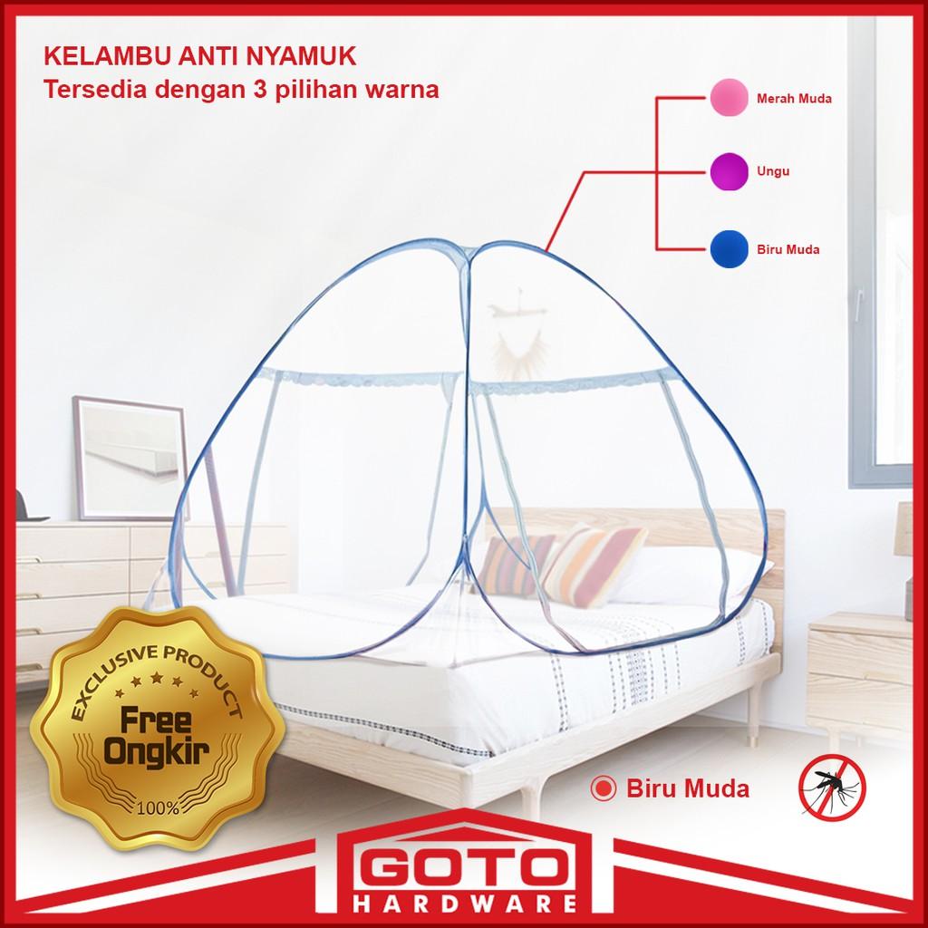 Sgm Kelambu Lipat Korea Bed Net Anti Nyamuk Bawah Bolong Tidur 180x200cm Shopee Indonesia