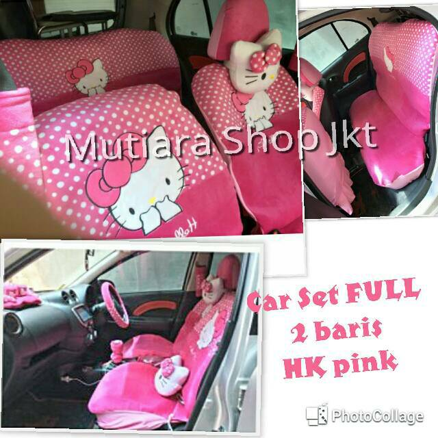 Sarung Jok Mobil Channel 18 in 1 Mobil Bantal Mobil 18in1 Chanel (2 Baris)   Shopee Indonesia