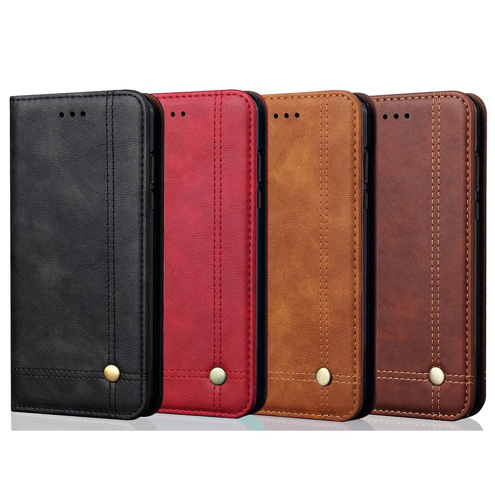 Huawei Y5 2018 / Y5 Prime 2018 Retro Leather Case TPU Inner Flip Stand Cover