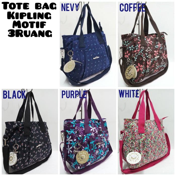 TOTE BAG KIPLING MOTIF 3Ruang + Tali Panjang  545655a79a