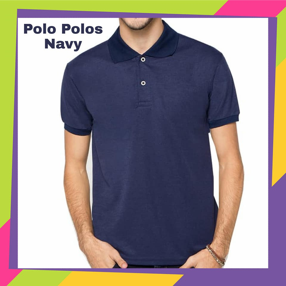 Kaos Polo Kaos Polo Polos Kaos Polo Polos Navy Shopee Indonesia