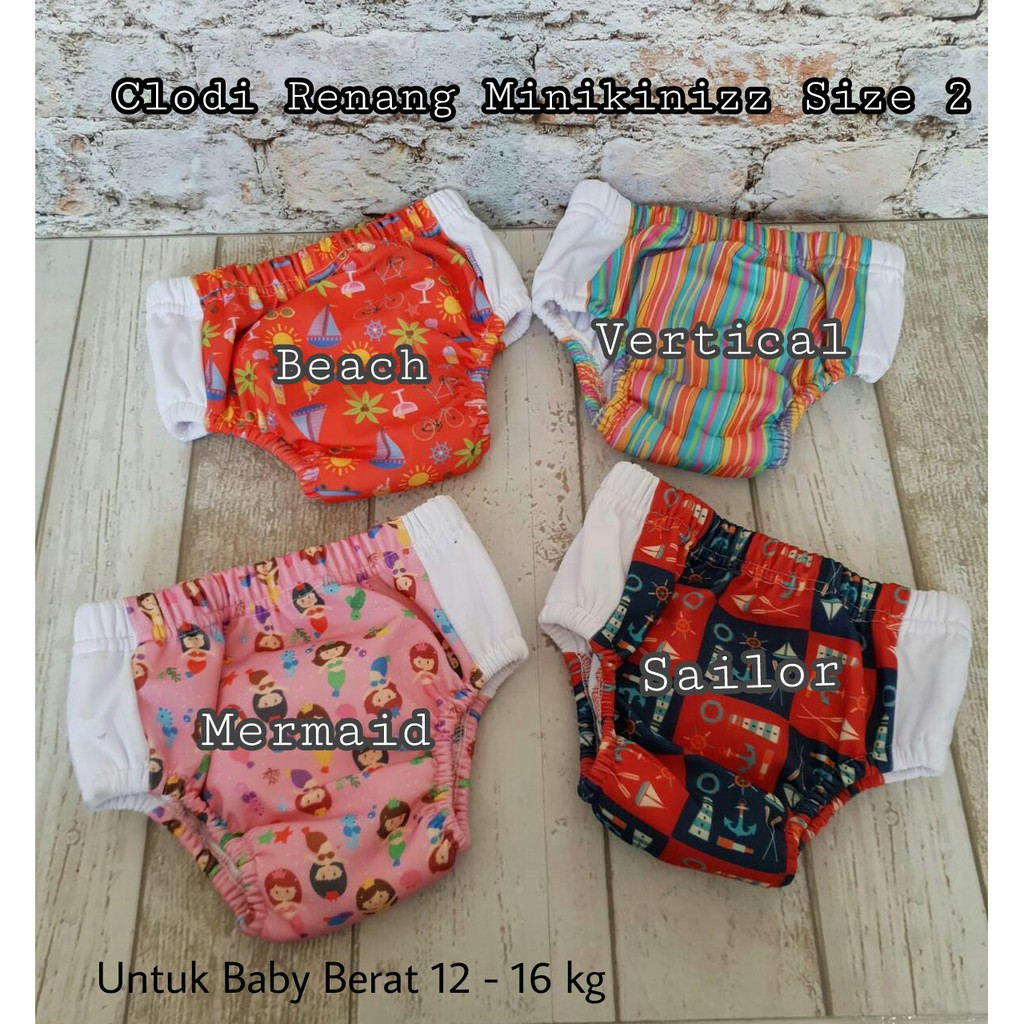 Swim Diaper Babyland Shopee Indonesia Ecobum Super Trainer Cloth Popok Kain Motif 11