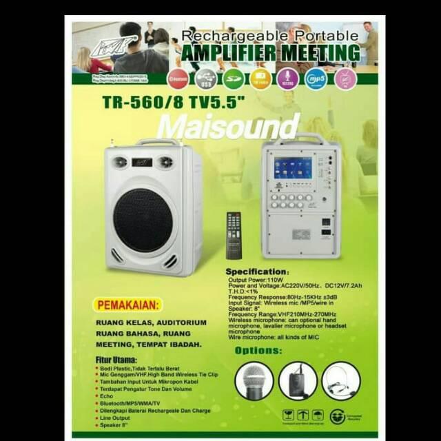Speaker Portable Wireless Meeting Tenteng Asatron HT-2675 USB | Shopee Indonesia