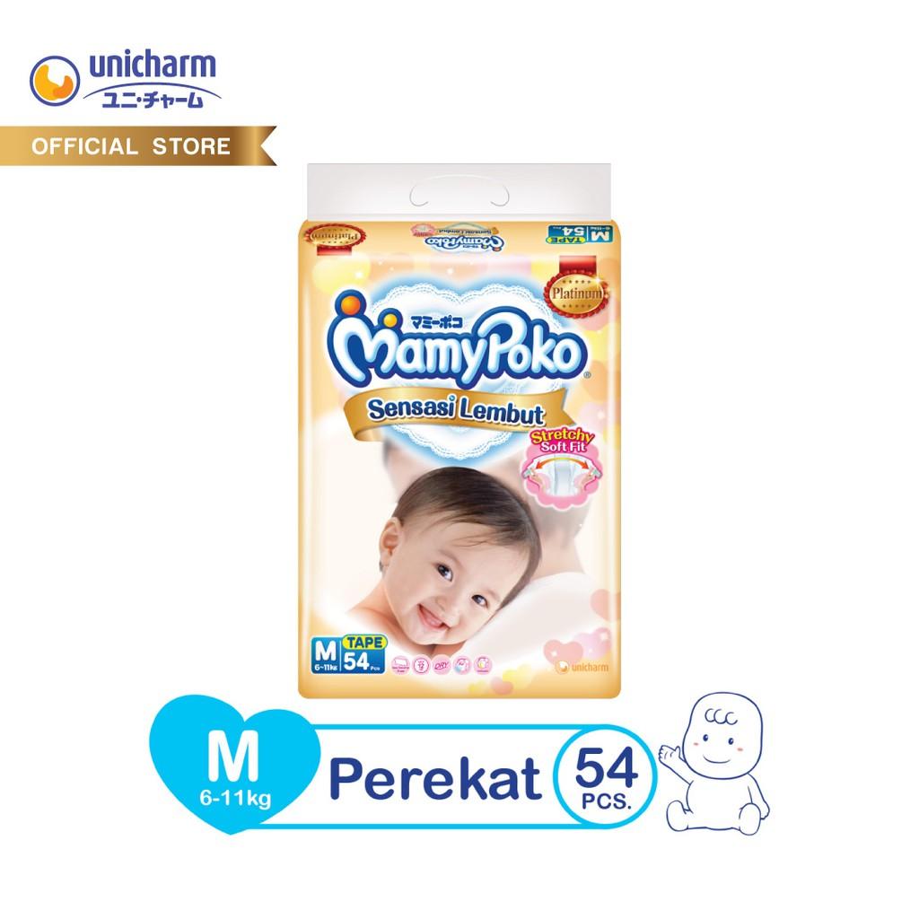 Mamypoko Sensasi Lembut Tape Taped M 54 Popok Perekat Mamy Poko Merries Pants Good Skin Xl 16 Pulau Jawa Only Platinum M54 Shopee Indonesia