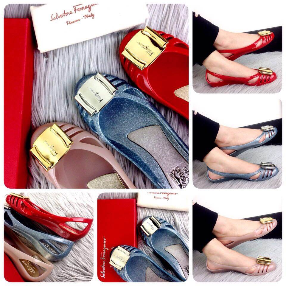 6fdf6f81dda4 Ready Stock New Arrival Salvatore Ferragamo Bermuda Jelly Flats SS17  (220rb)  F01