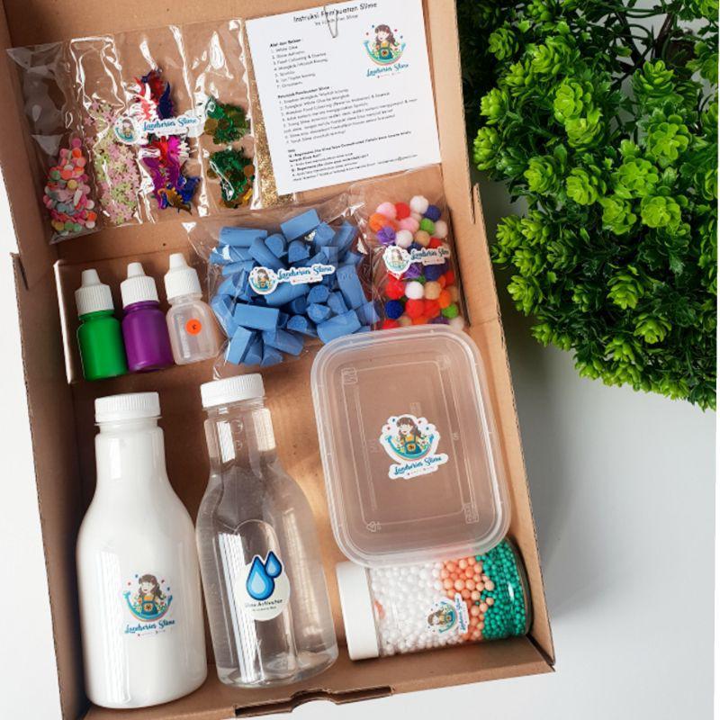 DIY Mini Slime Kit by Landseries Slime | Bahan Slime