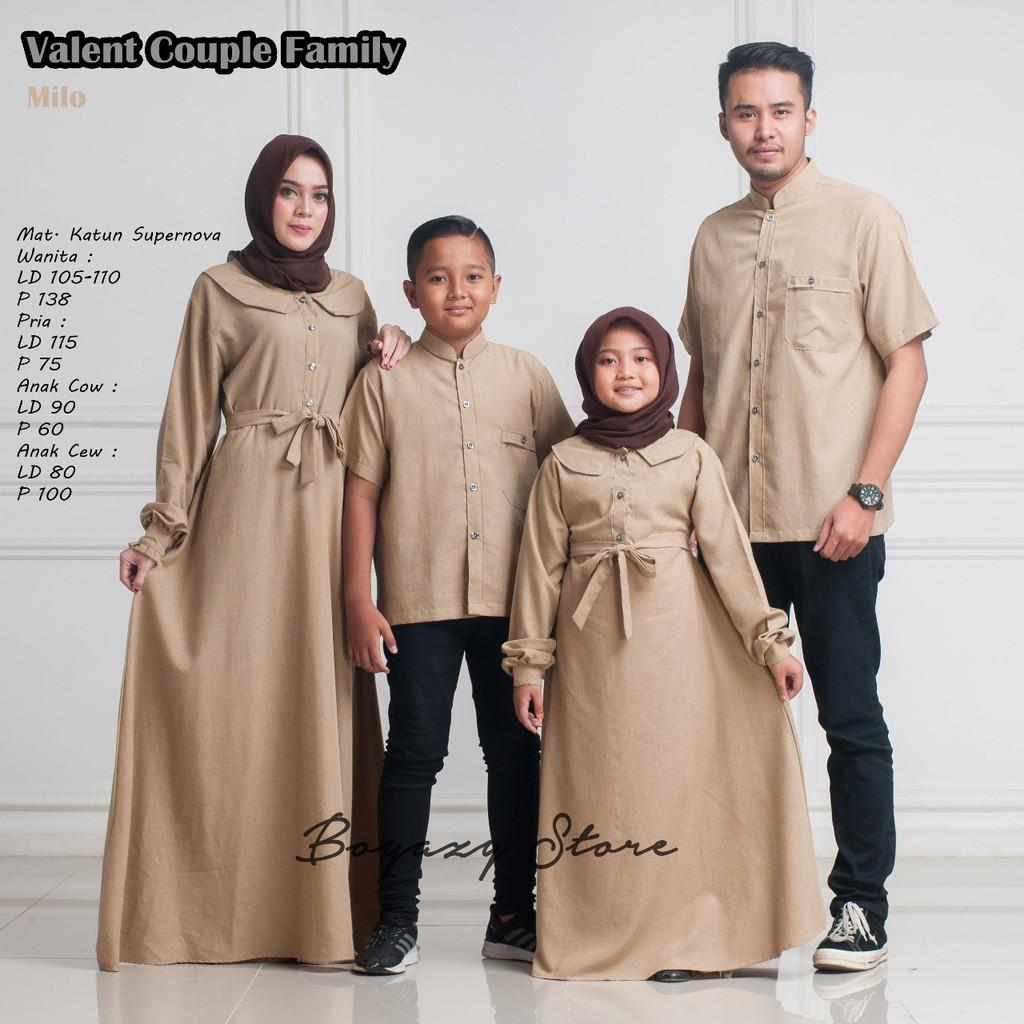 BAJU LEBARAN Valent couple family BOYAZY couple keluarga setelan keluarga  baju muslim couple