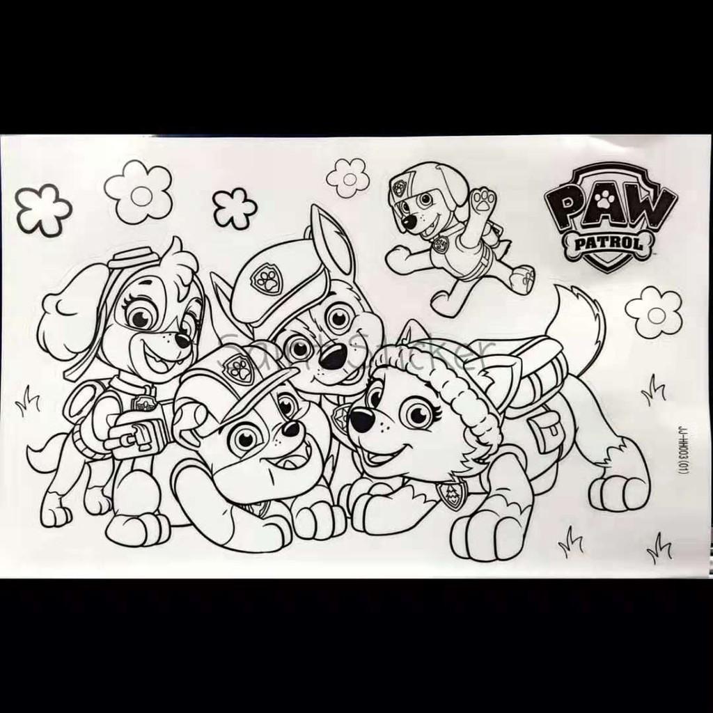 Buku Stiker Anak Sticker Book Gambar Tempel Karakter Kartun Paw Patrol