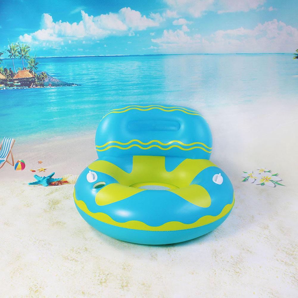 Han Inflatable Floating Lounge Swimming Pool Float Chair With Cupholder For Summer Water Party Shopee Indonesia