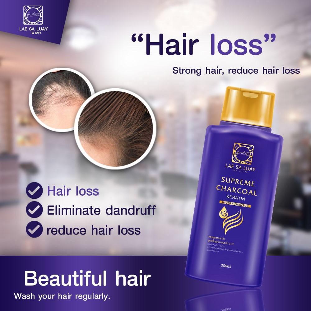 BPOM Lae Sa Luay Supreme Charcoal Smooth Shampoo / Shampo Kondisioner 200ml-5