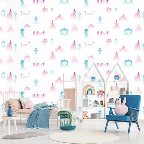 Wallpaper Dinding Anak Korea Motif Princess Roll Besar Shopee Indonesia