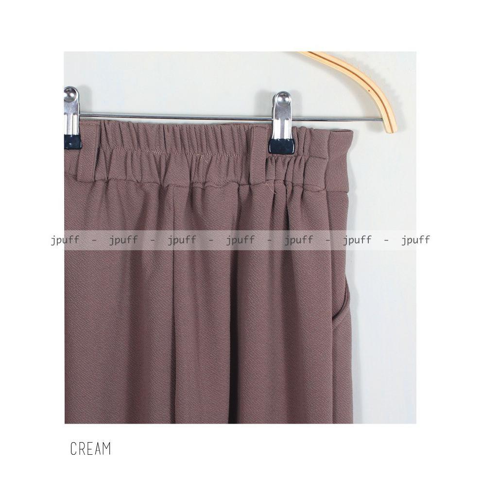 Jual Premium Scallop Pants Limited Shopee Indonesia Ellysa Monoruesya Ribbon Style Black
