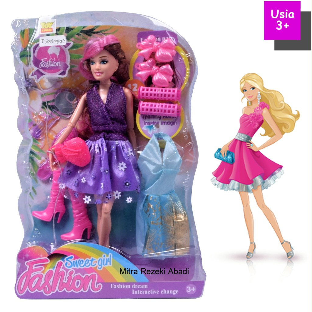 Mainan Boneka Barbie Sweet Fashion Dream 5093 4 Shopee Indonesia