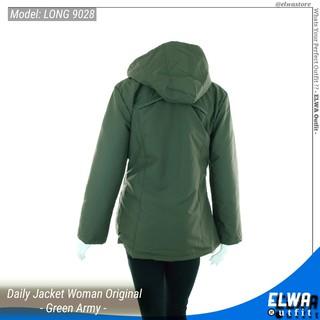 ... LONG 9028 Jaket Harian Wanita Jaket Motor Cewek Original Distro Waterproof - Green Army. suka: 9