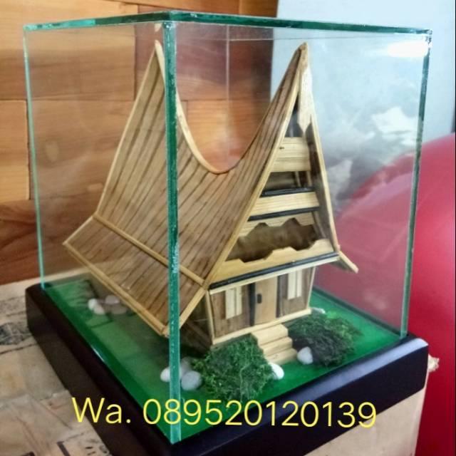 Miniatur Rumah Adat Bolon Batak Sumatera Utara Shopee Indonesia