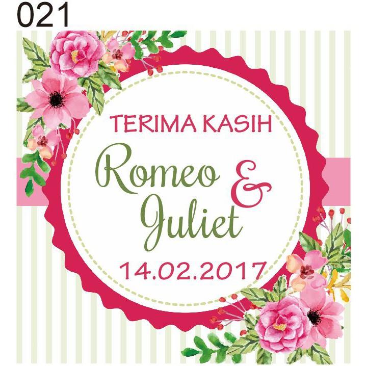Kartu Ucapan Terima Kasih 021 Shopee Indonesia
