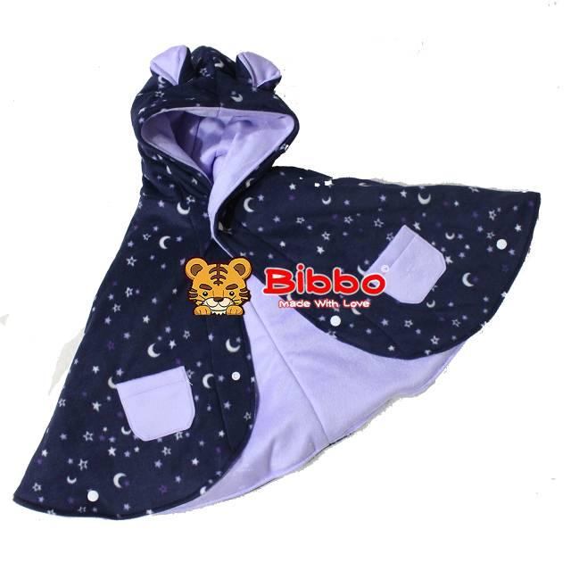 Babycape Bibbo - Purple Night - Jaket Selimut Bayi Multifungsi - Baby Cape