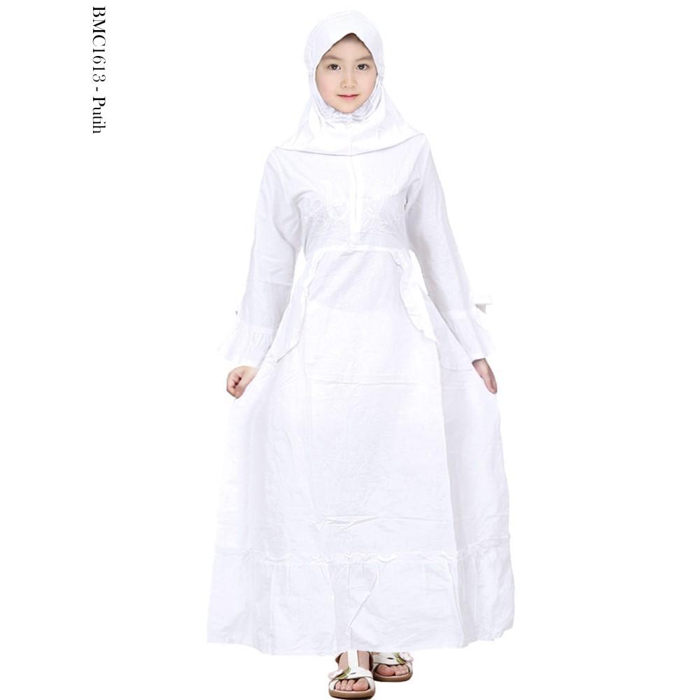 Gamis Anak Warna Putih Baju Muslim Anak Perempuan Putih