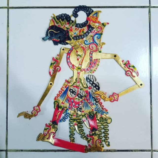 Gatotkaca Wayang Kulit Asli Jogja Rapi Halus Shopee Indonesia