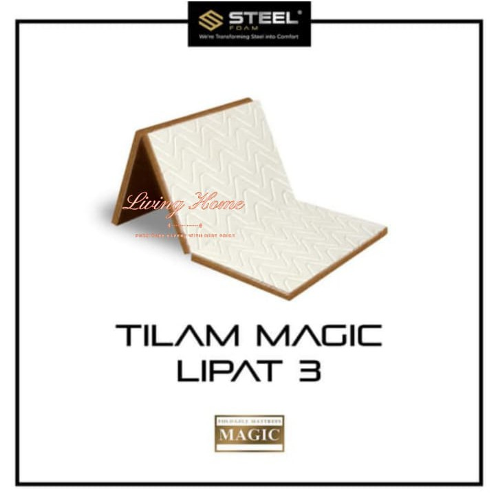 Matras Kasur Busa Tilam Lipat Magic Fordable 3 kaki, Steel Foam Tempat Tidur Mattress Murah