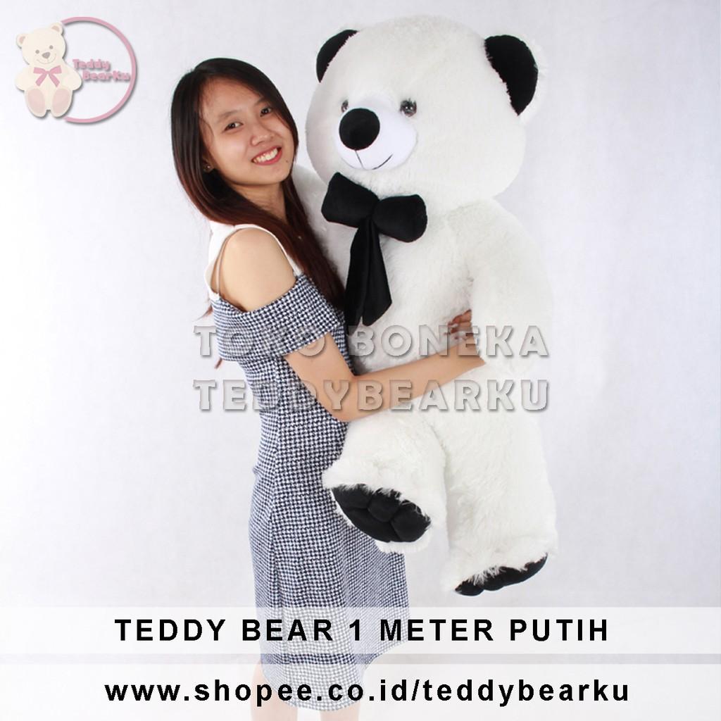 BONEKA TEDDY BEAR JUMBO UKURAN 1 METER WARNA MERAH KHAS BANDUNG ... 482ffc7c7b