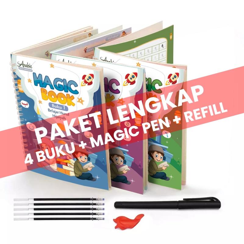 Buku Belajar Menulis Arab / Hijaiyah Ajaib ~ Magic Arabic Copybook Writing Book untuk Anak2