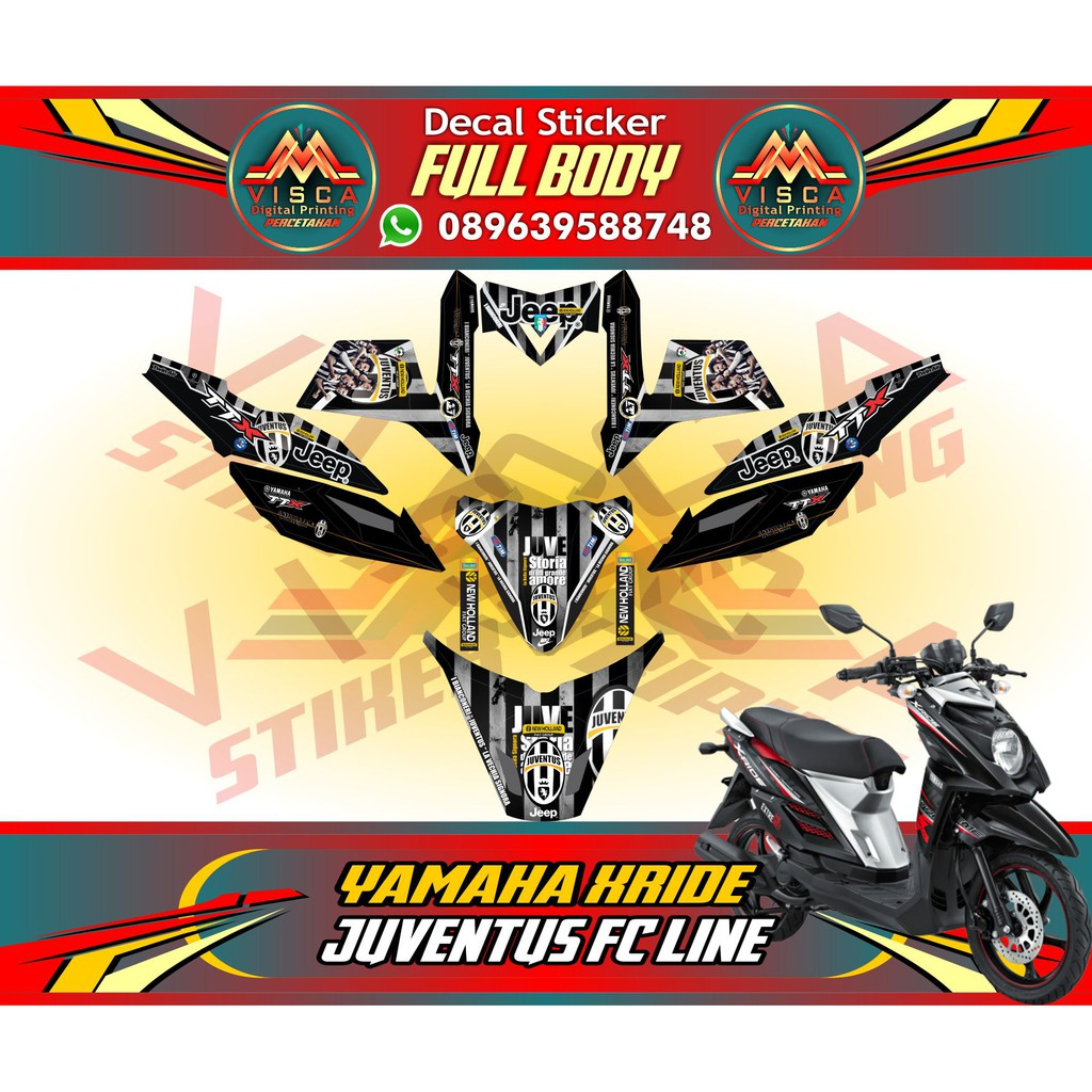 Sticker motor xride decal xride striping motor xride monster energy tech 3 yellow shopee indonesia