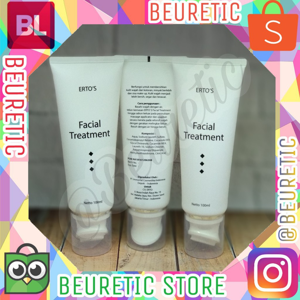 Ertos Night Cream Whitening Original Bpom Pencerah Pelembab Perawatan Wajah Malam Shopee Indonesia